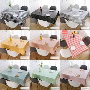Table-Cloth Decorative Coffee-Cuisine Rectangular Kitchen Waterproof PVC Woven Anti-Pollution