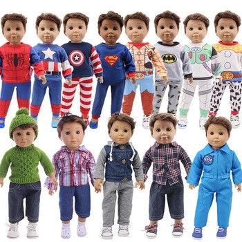 """Logan кукла 2 шт./компл. пальто героем Пижама с человеком-пауком, для 18 дюймов с капюшонами в американском и 43 см для ухода за ребенком для мам, новинка, носки для новорожденных, наше поколение, """"сделай сам"""" для девочек игрушка в подарок"""