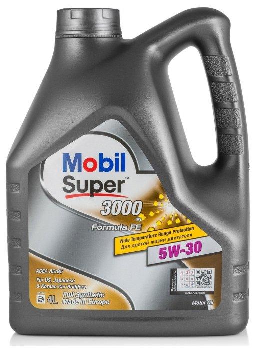 Масло моторное Mobil Super 3000 X1 Formula FE 5W30 синтетическое 4 л 152564