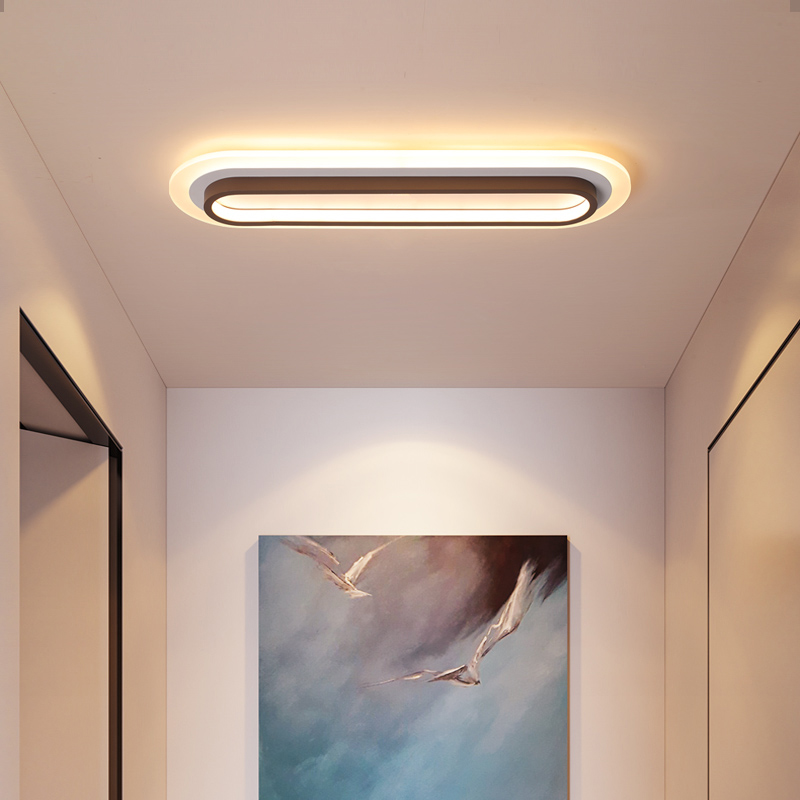 White and brown ceiling lamp aisle corridor office lights hardware acrylic minimalist modern LED ceiling lights Bedroom Ceiling Lights | Flush Ceiling Lights | White and brown ceiling lamp aisle corridor office lights hardware acrylic minimalist modern LED ceiling lights size 40~120CM
