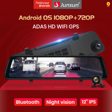 Junsun A102 Adas 4G Android8.1 Mobil DVR Kaca Spion Dash Kamera Wifi FM Bluetooth GPS 2GB RAM 1080P Registrator Auto Dashcam(China)