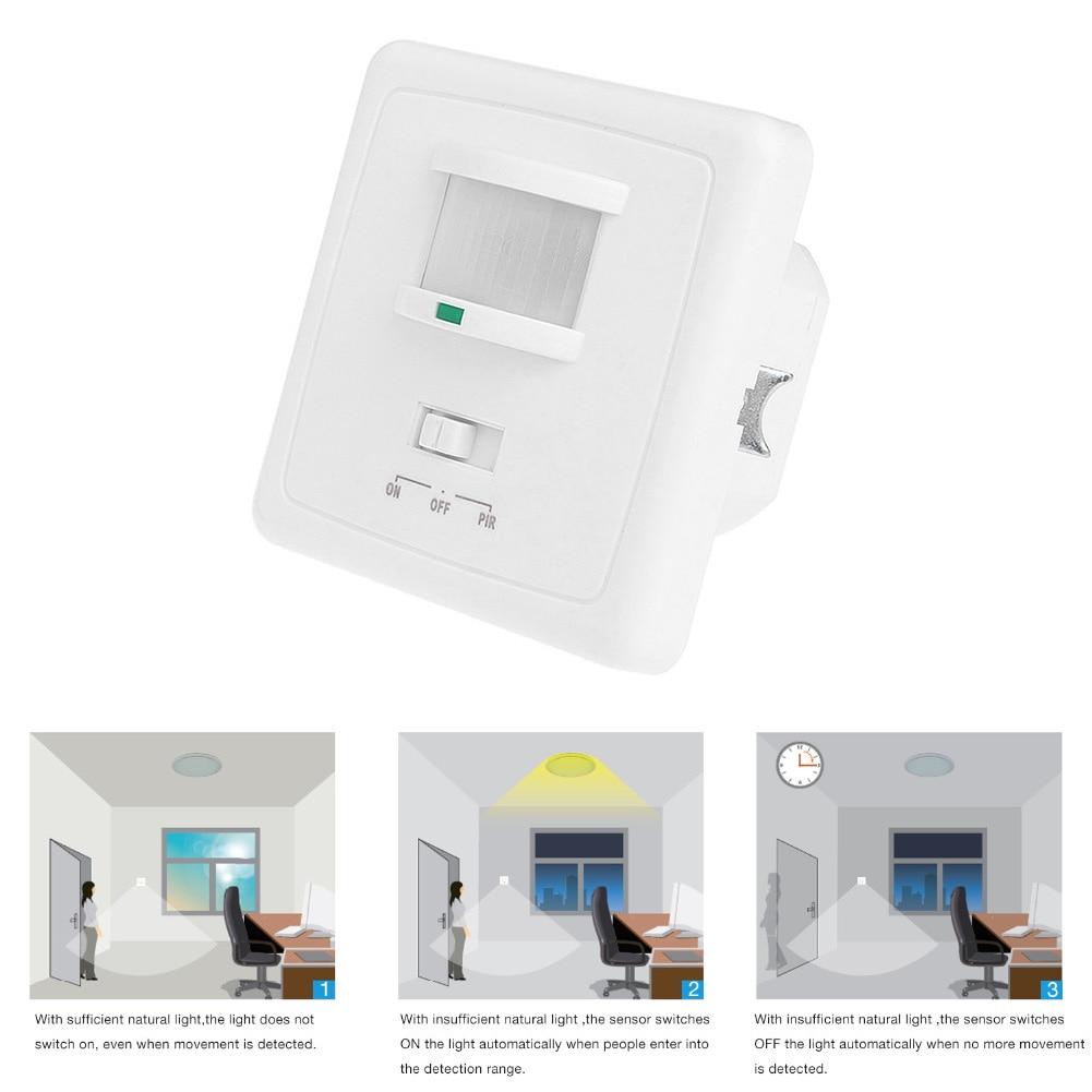 1 Pc New Ho Sale Wall Mounted Motion Sensor Light Switch Distance Occupancy Sensor Pir Motion Light Switch Presence Switch