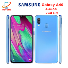 Original Samsung Galaxy A40 A405FN/DS Dual Sim Mobile Phones 4G LTE Smartphone Octa Core 5.9″ 4GB with Type-C Fingerprint NFC