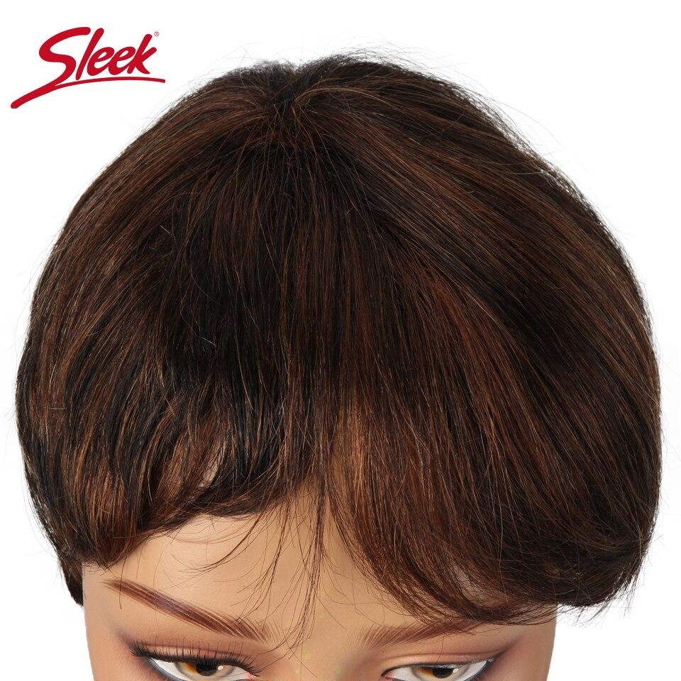 de cabelo humano para preto feminino 150% densidade rápida peruca curta