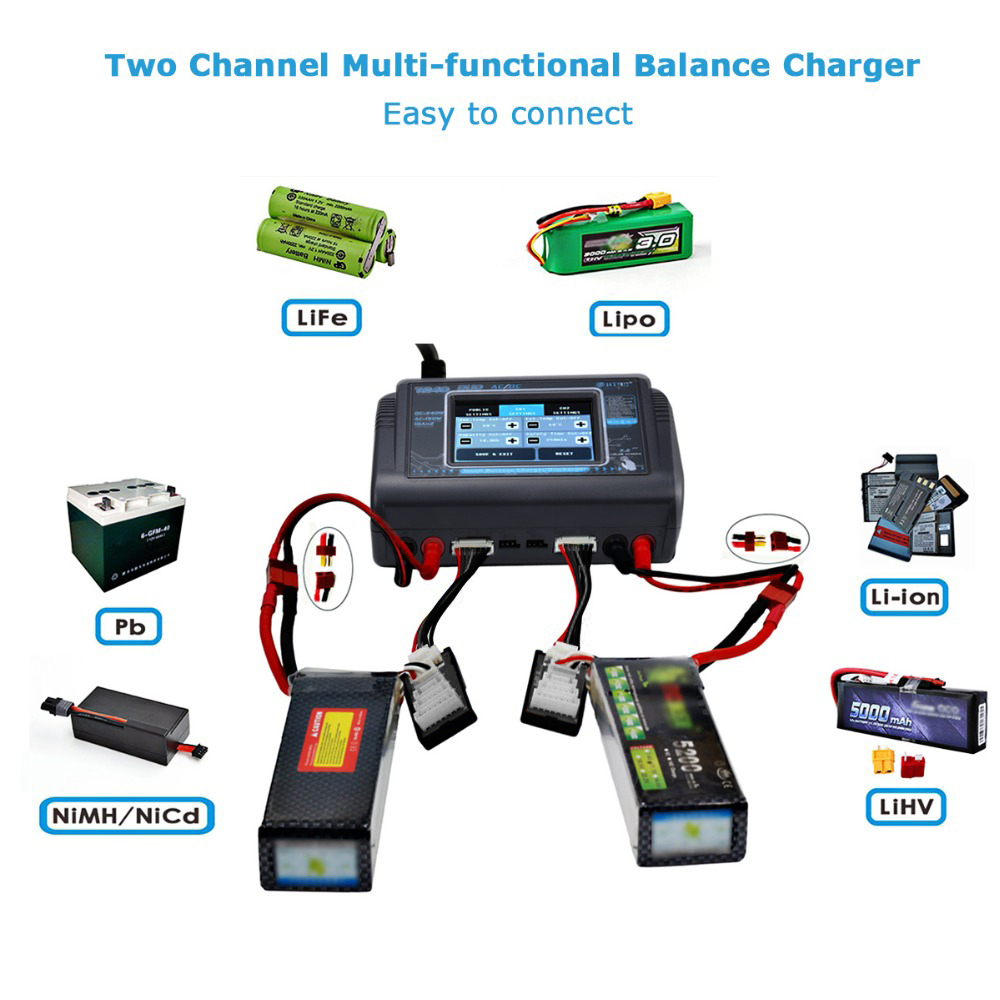 HTRC T240  C240 RC Charger DUO AC 150W DC 240W 10A Dual Channel Lipo Battery Balance Charger Discharger For RC Drone Multicopter