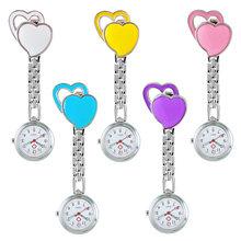 Часы медсестры с двойным сердечком светящиеся в темноте карманные