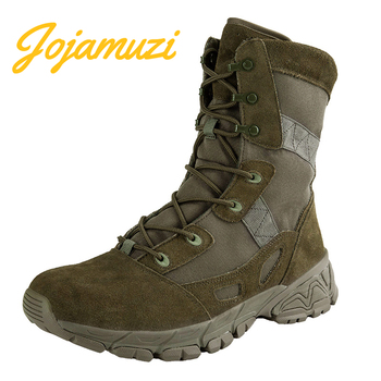 Men Military Boot Breathable Canvas Ultra light Desert Shoes Mens Combat Tactical Army Hiking Boots Outdoor Sport Shoes hunting