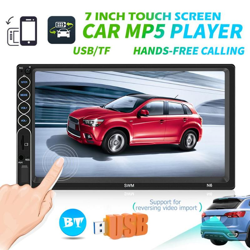 SWM N6 2 DIN Car Multimedia Player <font><b>7</b></font> inch Touch Screen <font><b>2din</b></font> Stereo Video MP5 Player Bluetooth USB AUX FM Radio Camera Car Player image
