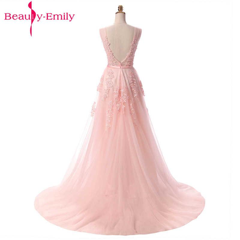 רויאל בלו שמלת ערב בתוספת גודל ארוך 2019 קו צד פורמלי שמלות אפליקציות תחרה לנשף שמלת שמלת כלה Vestido דה noiva