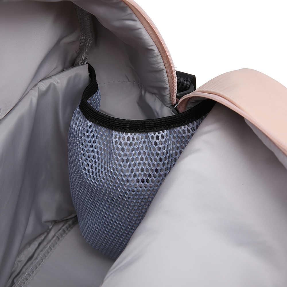 Soboba mochila multifuncional para pañales Set Rosa impermeable de gran capacidad de maternidad bolsa de cambio de pañales para la madre bolsa de pañales
