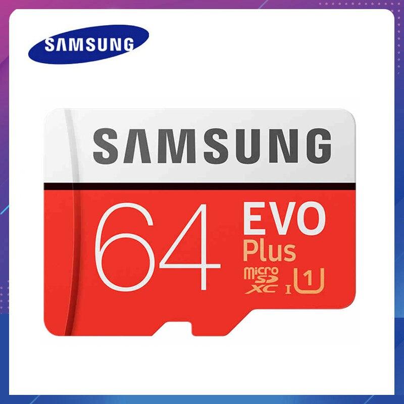 Samsung-tarjeta de memoria micro sd para teléfonos inteligentes, tarjeta Flash TF de 32gb, 64gb, 128gb, 256gb, Clase 10, 100 MB/s, SDXC U3, USH-I