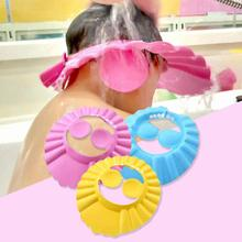 Home Bathroom Baby Kids Child Shower Cap For Hair Wash Bath