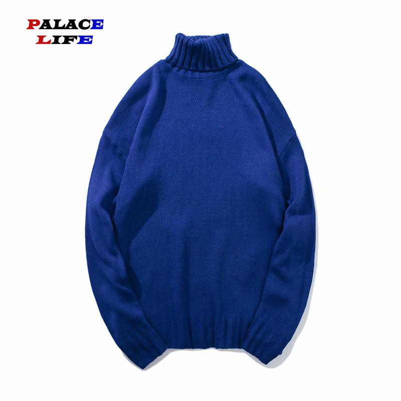 Streetwear Solid Color Men's 6 Style Candy Unisex Sweaters Clothes Korean High Neck Pullover Sweater Couple Fashion Tops