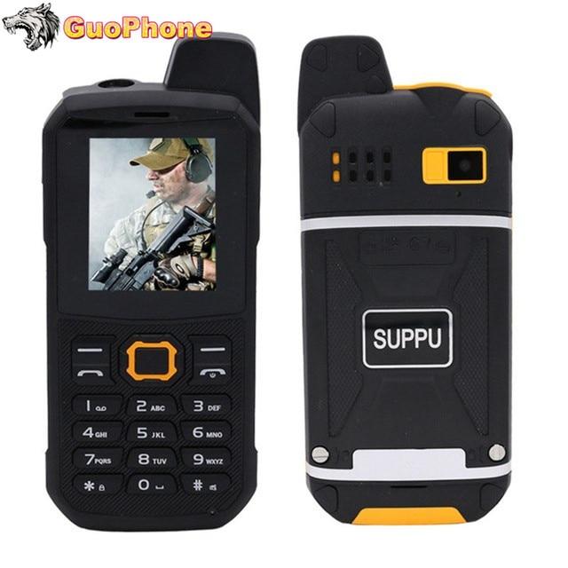 "F68 IP67 방수 전원 은행 휴대 전화 2.2 ""Shockproof 시끄러운 스피커 강력한 손전등 듀얼 SIM 수석 야외 견고한 전화"