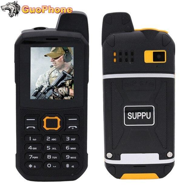 """F68 IP67 Waterdichte Power Bank Mobiele Telefoon 2.2 """"Shockproof Luidspreker Sterke Zaklamp Dual Sim Senior Outdoor Robuuste Telefoon"""
