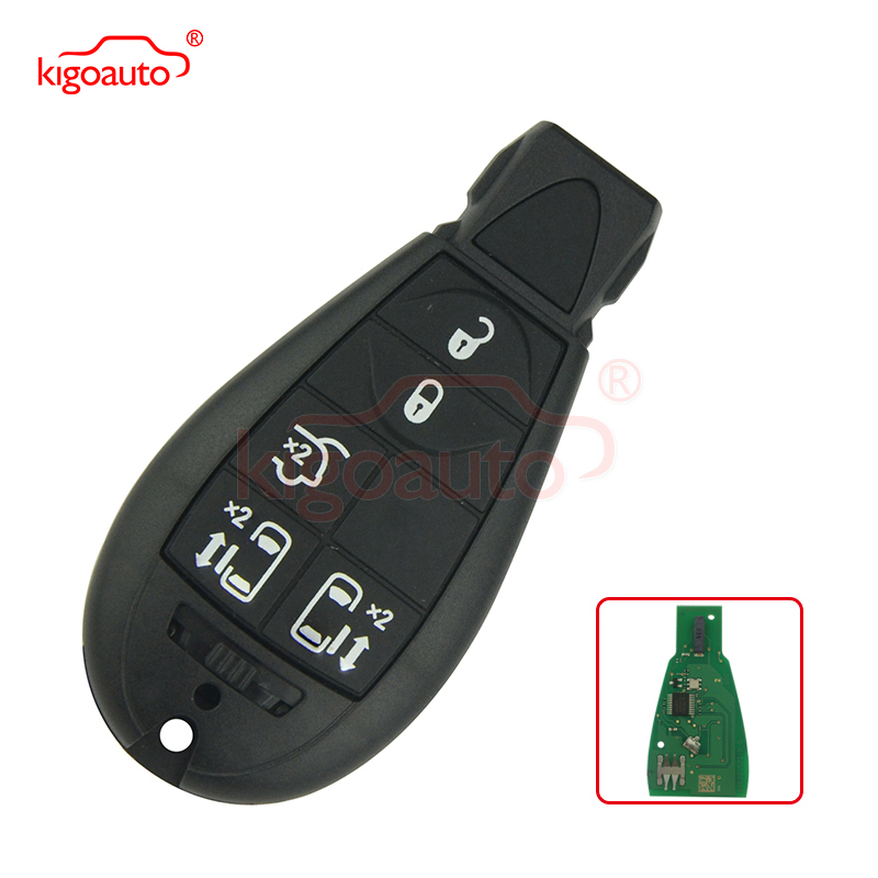 # 9 05026197AD Caliber, Journey, Grand Cherokee, Voyager Fobik key remote 5 button 434Mhz for Chrysler europæisk model Ingen panik
