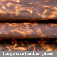 Large size Tanned Cowhide Material Fabric Piece Real Leather bag shoes DIY Art Craft Sewing Accessory Genuine Leather