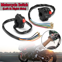 2pcs Universal 22mm 7/8 Button Switch Kit Ignition Engine Stop Lamp Horn Light Motorcycle Push for Honda Bike