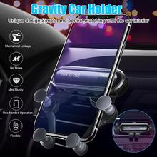 Auto-Retractable Hands Free Gravity Car Phone Holder with Auto Lock and Release for Smartphones