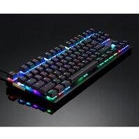 87 K82 Wired Mechanical Keyboard RGB Backlit Glowing Gaming Keyboards 87 Keys Black Pink Multi-Function USA Keyboard (3)