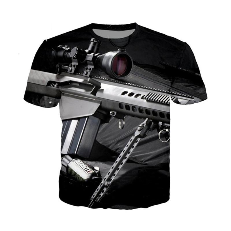 Clothing And Guns T Shirt For Men Women 2020 Cool 3D T Shirt Short Sleeve Men Guns Top Sale Clothing Male Tshirt Bullet