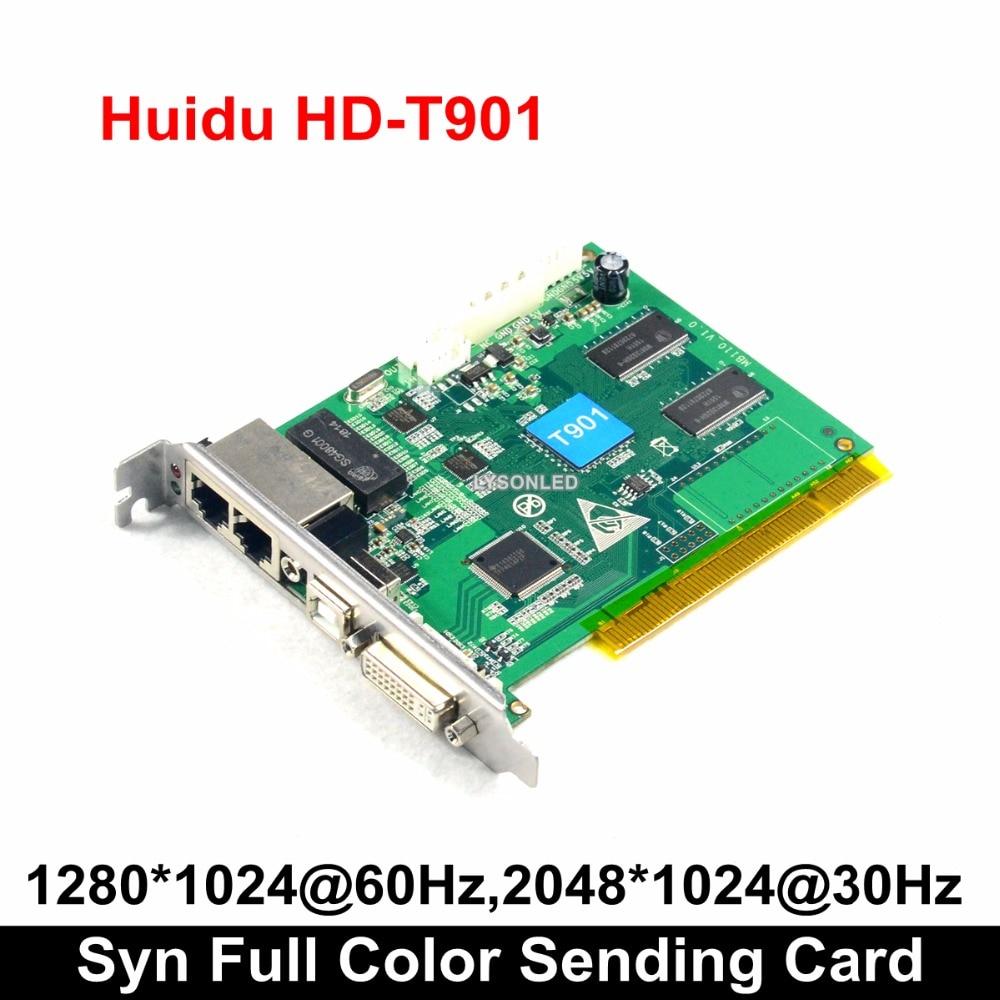 HD-T901 Huidu Synchronization Full Color Sending Card Work With HD-R512 HD-R5018 Receiving Card HDMI Input