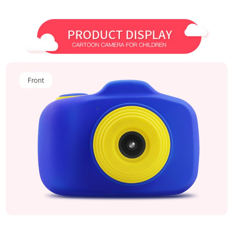 Mini mignon double objectif caméra 2.3 pouces prendre photo appareil photo numérique pour enfants jouets enfants Y4QA