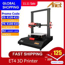 Anet ET4/ET4 Pro 3D Printer 10 Minutes Assemble with 2.8 Inch Color Touchscreen Resume Printing/Filament Detection/Auto Leveling