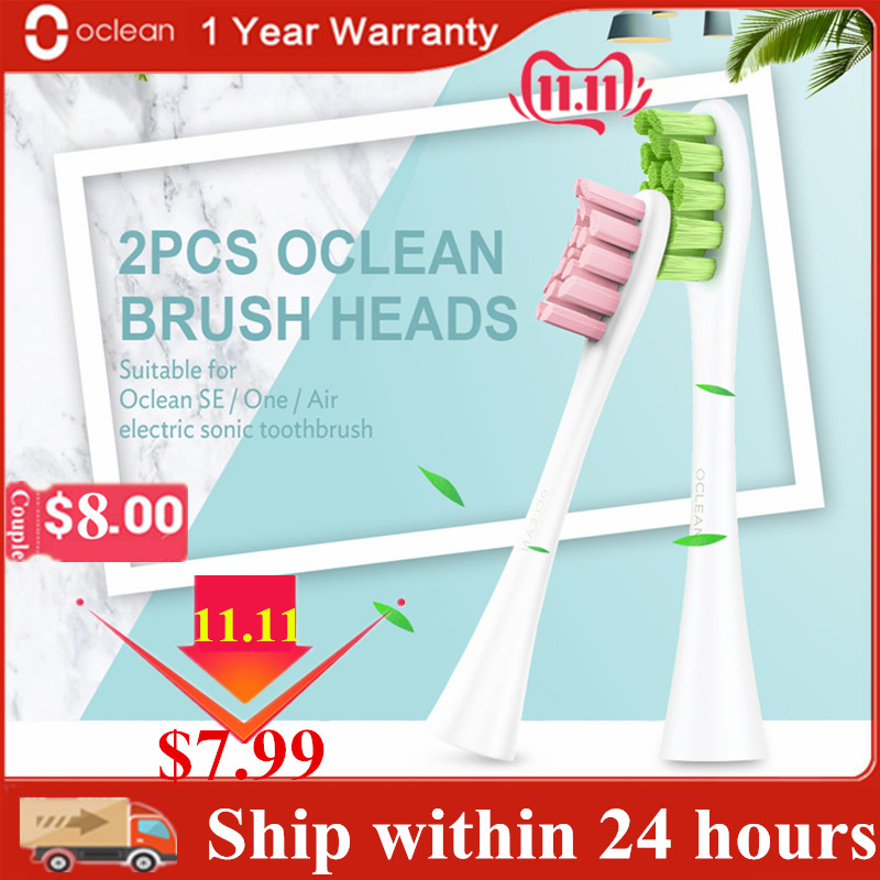 2Pcs Original Oclean SE/One/Air Electric Sonic Toothbrush Head Replacement Brush Heads 2pcs Deep Cleaning Tooth Brush Heads