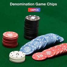 100PCS New Poker Chips Transparent Plastic Boxed With Digital Entertainment Game Tokens Bingo Cards Accessories