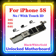 Para placa base Iphone 5S, placa base 100% para Iphone 5S con Touch ID/sin Touch ID 16GB 32GB 64GB