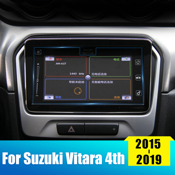 Car Screen Protector Film For Suzuki Vitara 4th 2015 2016 2017 2018 2019 Tempered Glass Car Navigation Screen Protective Sticker image