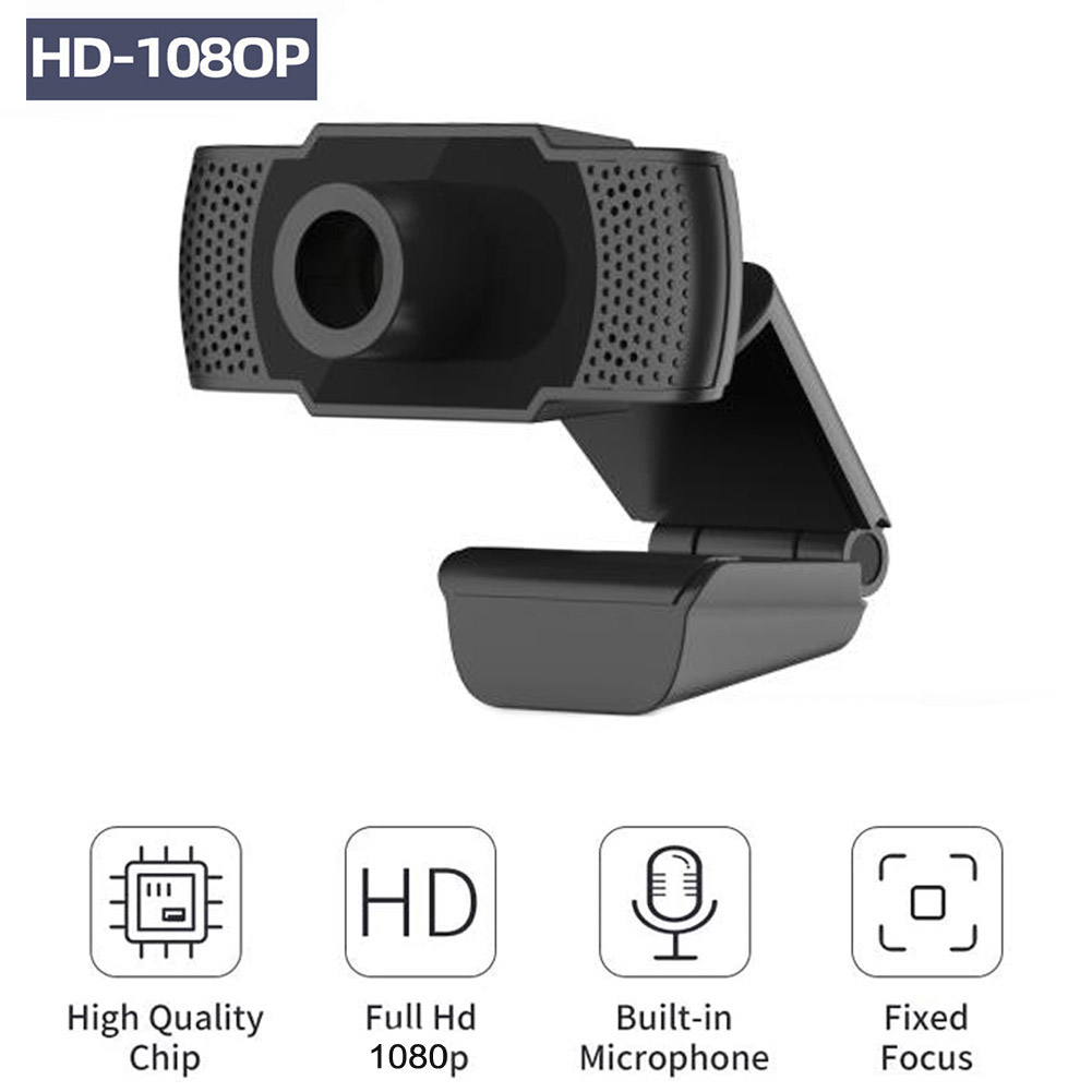 1080P Web Cam Webcam HD 200 Megapixel PC Camera with Absorption Microphone MIC for Skype for Desktop Laptops PC Game Cam image