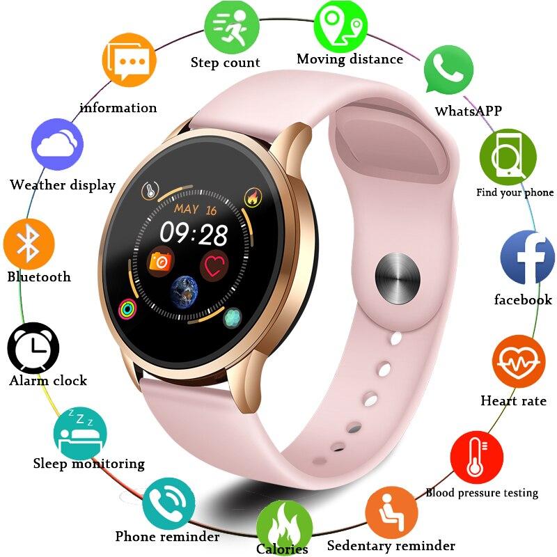 LIGE 2019 gran oferta relojes inteligentes Monitor de presión arterial ritmo cardíaco reloj inteligente para mujer reloj inteligente deportivo para IOS Android + Box