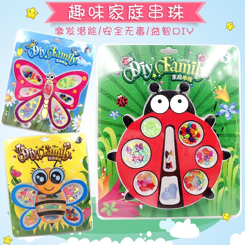 Children Fun Beaded Bracelet DIY Educational Toy Shopping Mall/shopping Centers Hot Selling Boutique Family Beaded Bracelet Earl
