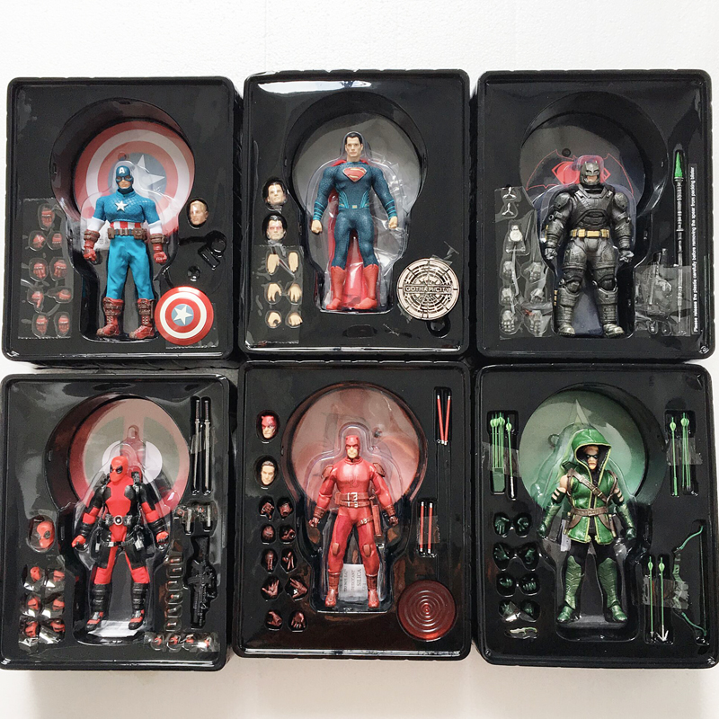 Mezco Action Figure Joker Batman Green Arrow Captain America Frankenstein Superman Deadpool Flash Punisher Shazam Black Panther