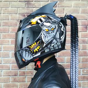 Motorcycle Full Face Helmet Motorcycle Racing Double Mirror Helmet