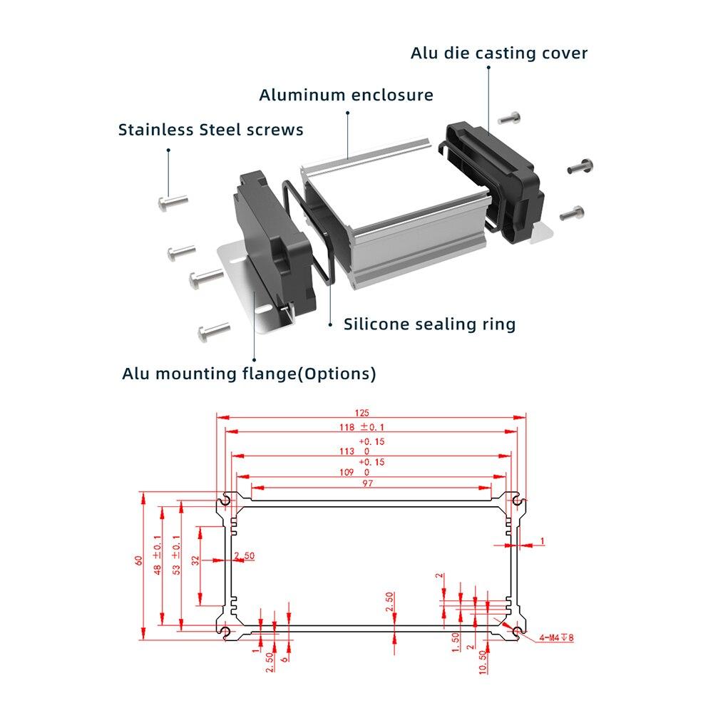 componentes eletronicos personalizacao a prova de intemperies projeto caixa m09 125w60h 05