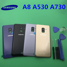 Ersatz Original Hinten Panel Batterie Glas Zurück Tür Abdeckung Für Samsung Galaxy A8 A8plus 2018 A530 A530F A730 A730F + werkzeug
