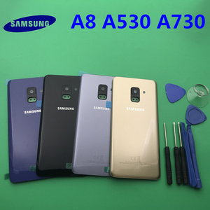 Image 1 - Replacement Original Rear Panel Battery Glass Back Door Cover For Samsung Galaxy A8 A8plus 2018 A530 A530F A730 A730F +tool