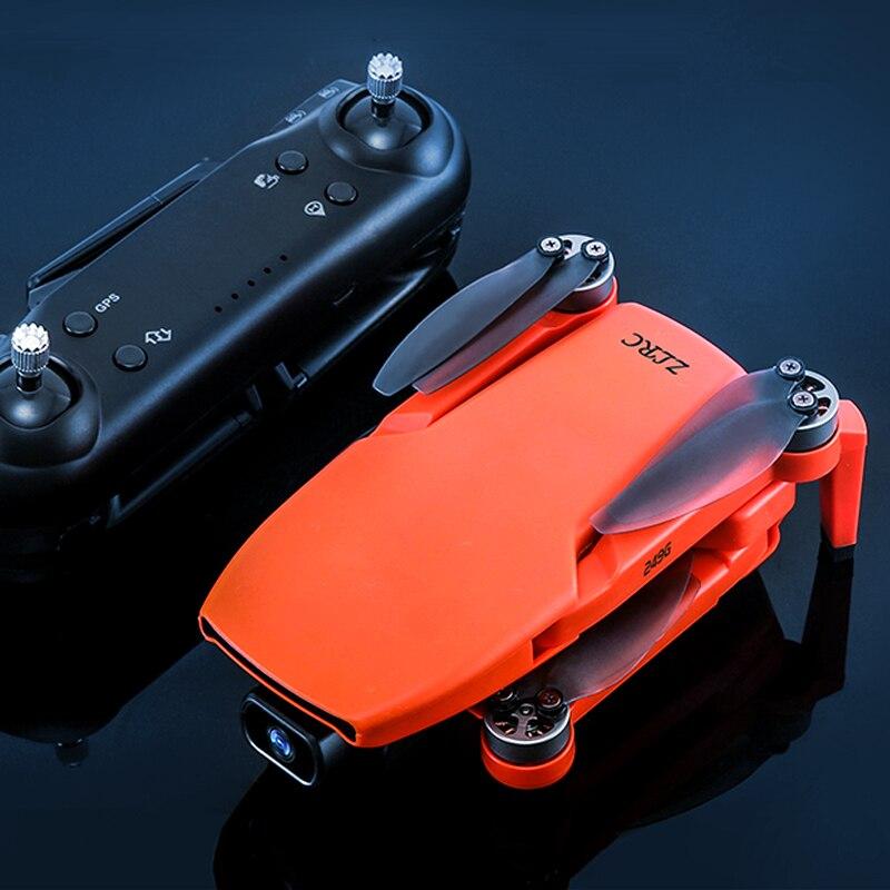 Zll sg108 câmera zangão gps 5g wifi 4k mini quadrocopter profissional sem escova do motor duplo cam quadcopter fluxo óptico rc dron