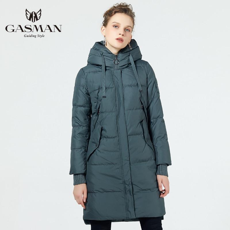 GASMAN 2019 hiver veste femmes nouveau parka femmes 2019 marque manteaux à capuche dames vestes femme Parka épais rembourré doublure hiver