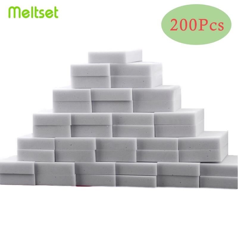 200 pçs/lote cinza magia melamina esponja borracha de limpeza multi-funcional esponja limpeza 100*60*20mm atacado