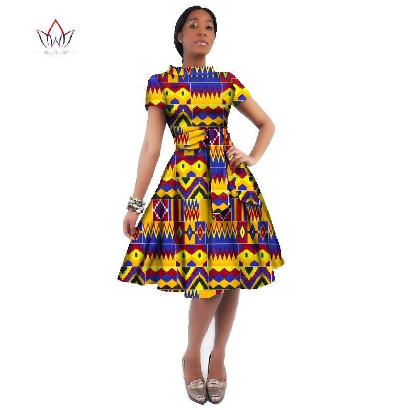 Оптовая продажа, платье в африканском стиле для женщин, платья с принтом в виде вощеного воска Дашики размера плюс, одежда в африканском стиле для женщин, офисное платье WY082|Платья|   | АлиЭкспресс