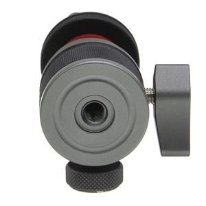 Image 4 - Hot Shoe Mount Mini Balhoofd 360 Panoramisch Monitor Houder Camera Pan Tilt 1/4 Koud Schoen Adapter Voor Statief Licht flash Bracket