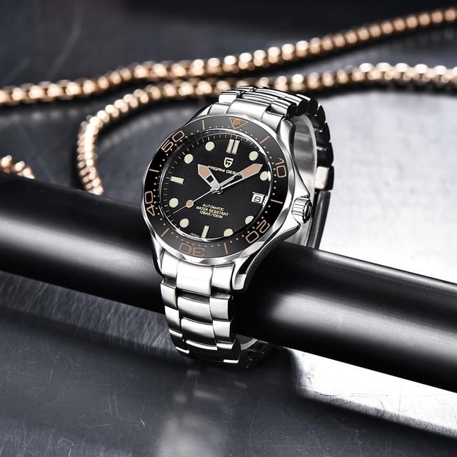 2021 New PAGANI DESIGN 007 Men's Mechanical Watches Brand Luxury Automatic Watch Men Waterproof Wristwatch Japan NH35 Clock man 3