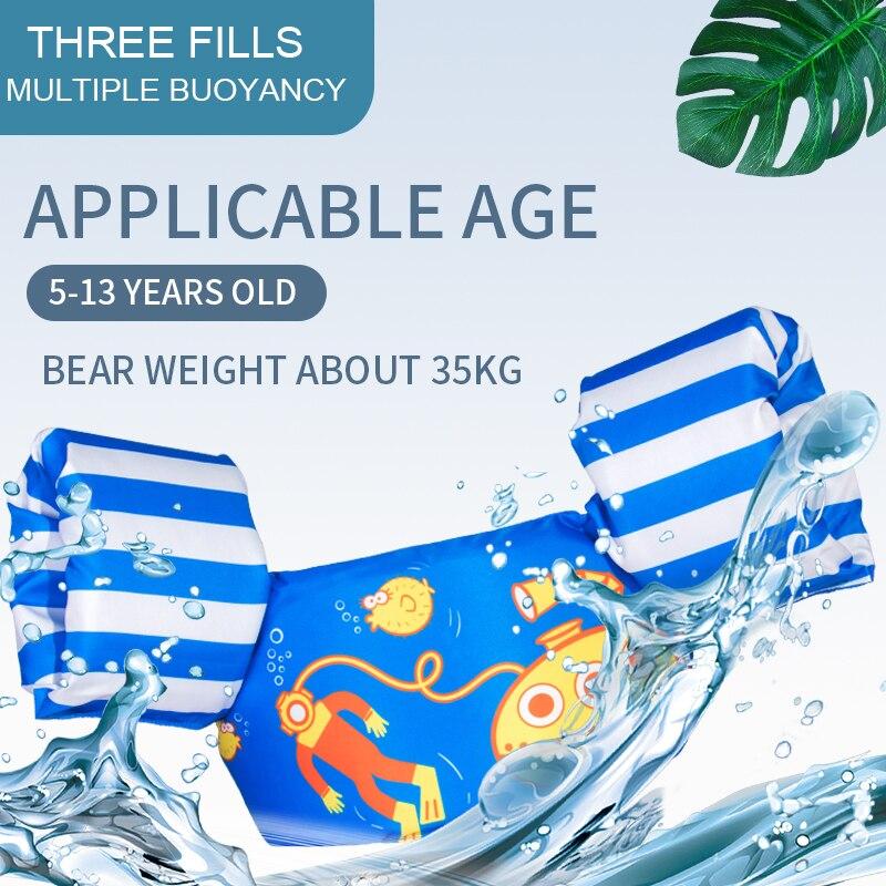 Children Kids Baby Float Arm Swimming Cartoon Life Float Jacket Safety Vest Swimming Pool Piscine Accessories