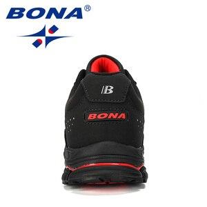 Image 3 - BONA 2019 Novos Designers de Separação Da Vaca Tênis de corrida Ao Ar Livre Calçados Esportivos Homens Sneakers Shoes Athletic Training Calçado Homem Comfortabe