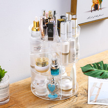 Transparent 17 Years New Style Spinning hua zhuang jia Plastic Cosmetic Box Cosmetic Storage Box Dresser Storage Rack