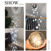 Modern Crystal Glass Ball LED Pendant Lights Fixtures Multiple Staircase Lamps Bar Hanging Lamp For Hotel Villa Duplex Apartment promo
